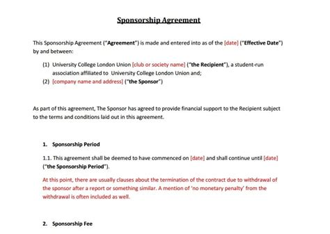 5 Sponsorship Agreement Templates Word Excel Pdf Templates Sponsorship Contract Template Word