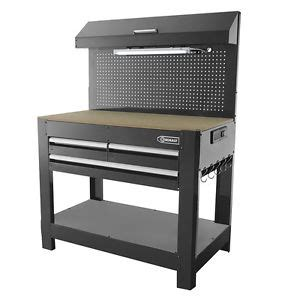 Garage Storage Table Lighted Tool Bench Garage Storage Table Steel Heavy Duty