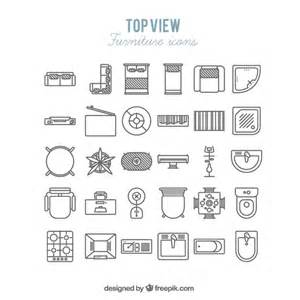 2d Floor Plan Software Free Download plan symbols colorful top view images basic collection
