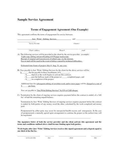 Blank Contract Exle Mughals Simple Service Contract Template
