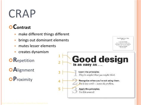 design elements crap principles of effective design