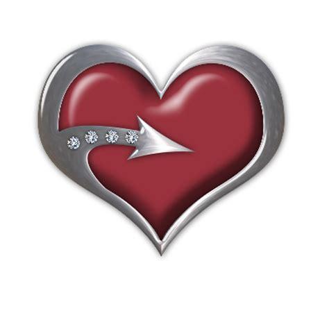 imagenes de corazones con flechas recursos infantiles corazones con borde plateado con flechas