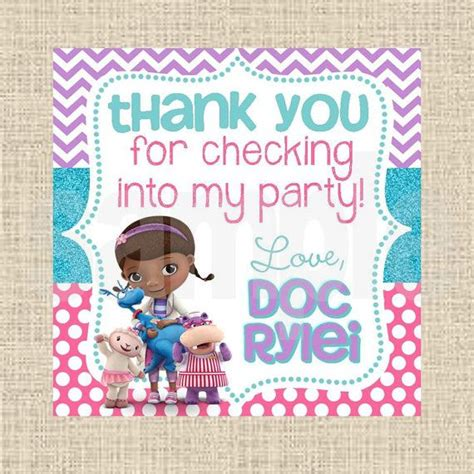 doc mcstuffins printable name tags printable diy doc mcstuffins inspired favor tags by