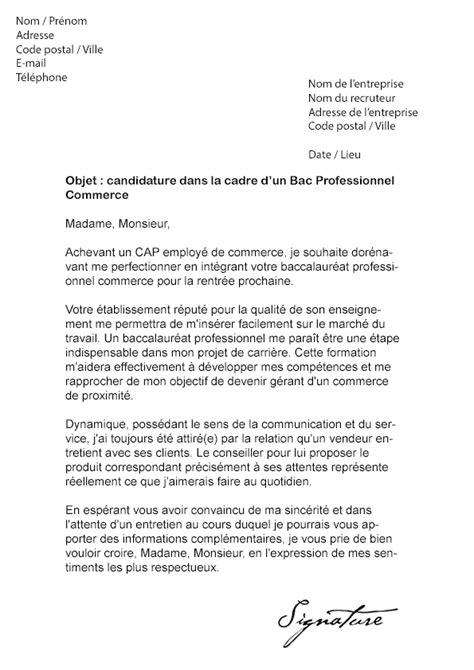 Exemple Lettre De Motivation En Vente Exemple De Lettre De Motivation Pour La Vente