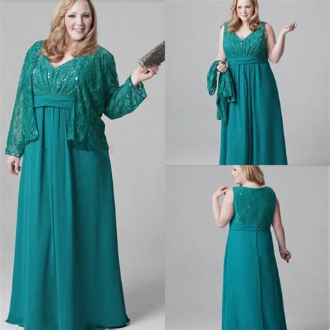 Lace Chiffon Dress W516 plus size emerald green of the dresses lace chiffon evening gown for with