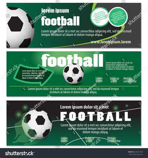football flyer template vector illustration graphic stock