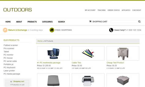 Ecommerce Templates Shopping Cart Software Virtual Css Outdoors Ecomm Plus Css Ecommerce Plus Ecommerce Templates Shopping Cart Software