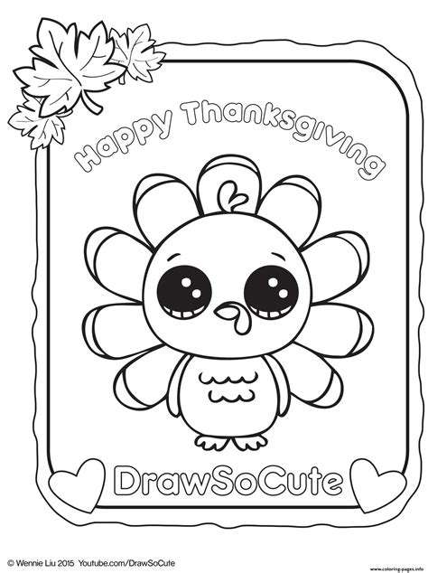 cute coloring pages of turkeys thanksgiving turkey draw so cute coloring pages printable