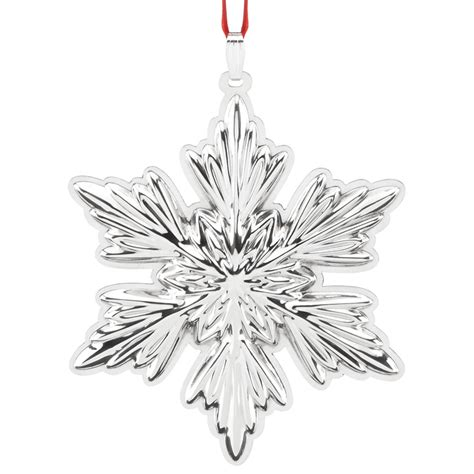 snowflakes ornaments snowflake ornament 2016 reed and barton