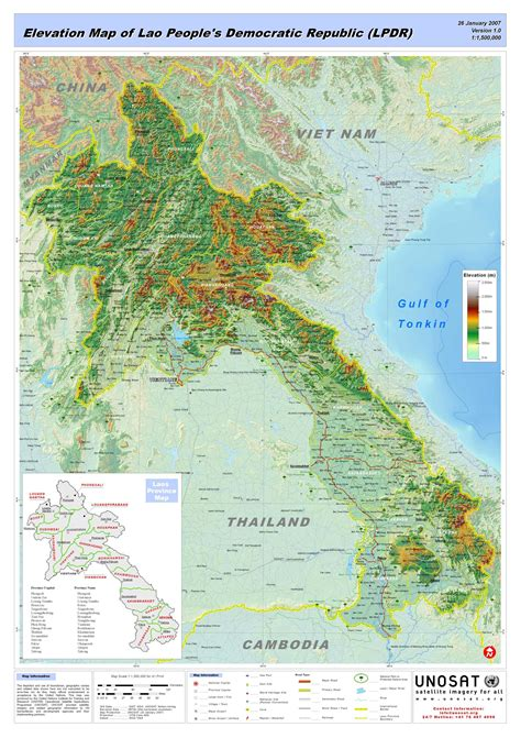 map of big laos big map mapsof net