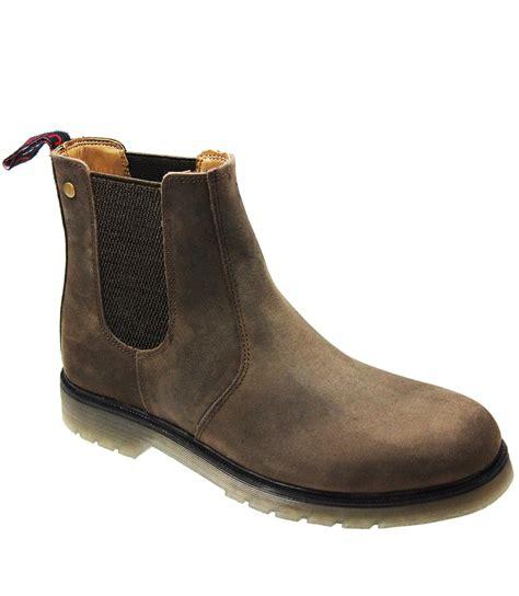 mens dealer work boots new mens chelsea dealer work ankle leather smart gusset