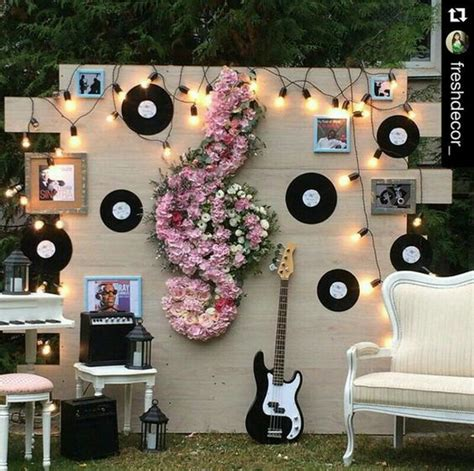 themes about music photocall para boda ideas de espacios divertidos para