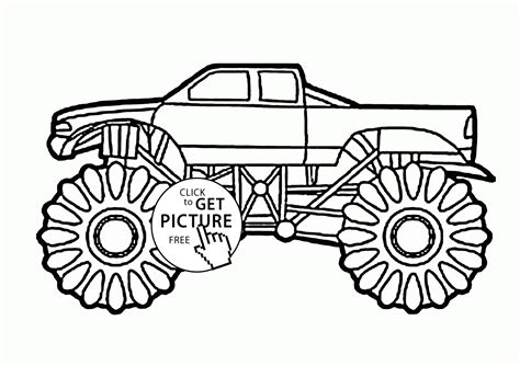 kids monster truck big monster truck coloring page for kids transportation