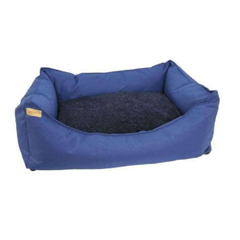 blue dog bed earthbound rectangular removable waterproof blue dog bed