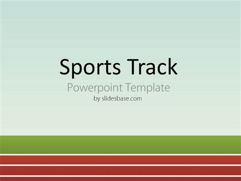 Sprint Powerpoint Template Sports Track Powerpoint Template Slidesbase