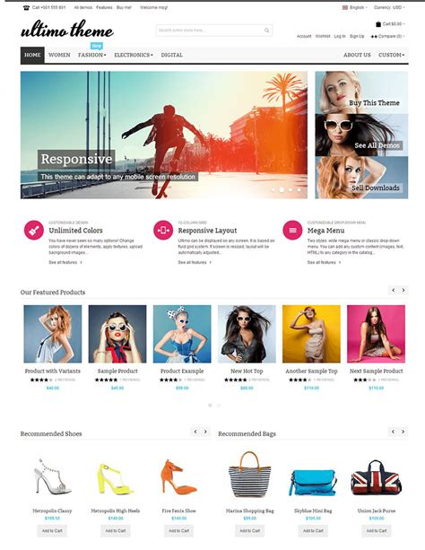 15 best ecommerce website templates trending in 2016