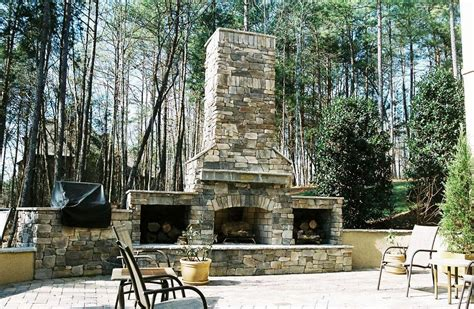 backyard outdoor fireplace plans jen joes design
