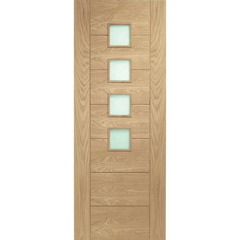 Palermo Oak With Obscure Safety Glass 1 2 Hour Safety Glass For Doors