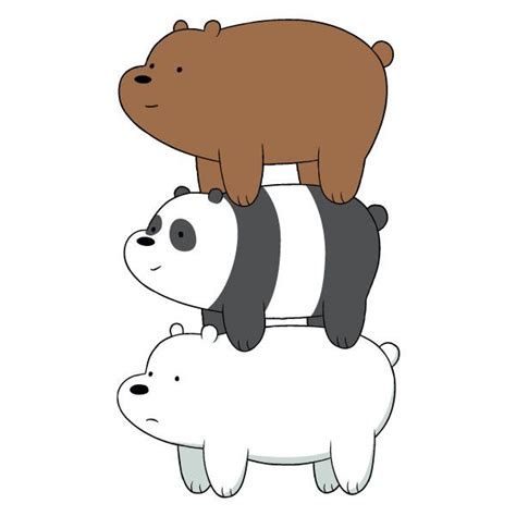 Stiker We Bare Bears Polar Lucu Imut we bare bears shows bare bears bears and polyvore
