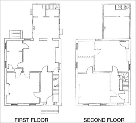 drawing of floor plan the m clintock house visual 2