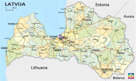 where is latvia on a map map of latvia with tourist information www infolatvia