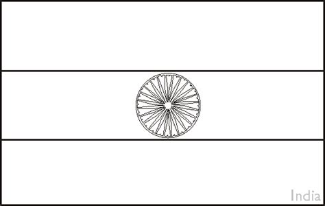 Colouring Book Of Flags Asia Indian Flag Coloring Page