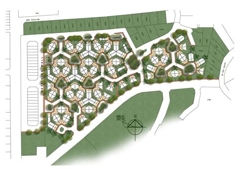 layout large land nong chik honeycomb layout urban planning pinterest