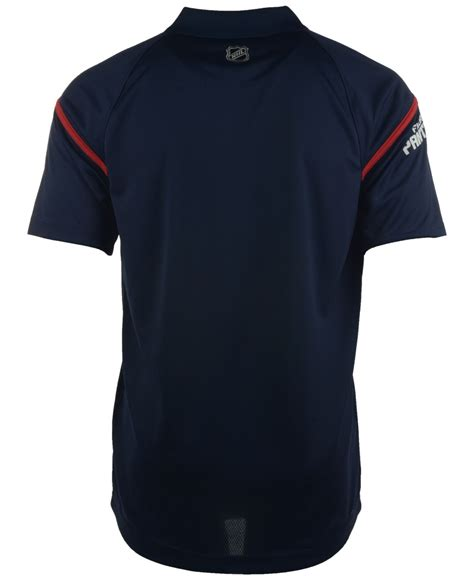 Tebok Polos reebok s florida panthers center polo in blue for lyst
