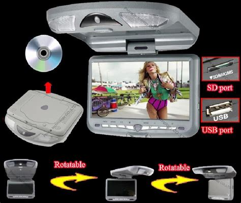 ceiling mounted dvd players for cars 9 inch roof mount car dvd player flip car monitor car