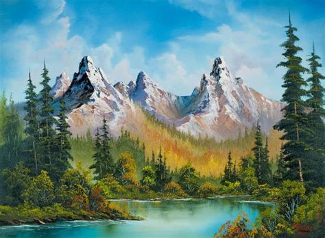 bob ross of painting bob ross autumns magnificence painting bob ross autumns