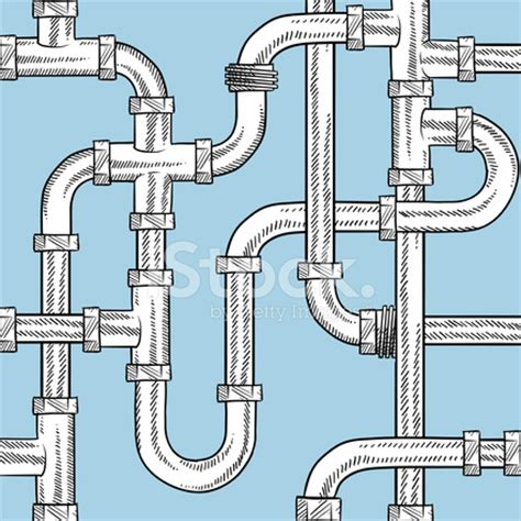 design pattern pipeline seamless plumbing pipes vector background stock photos