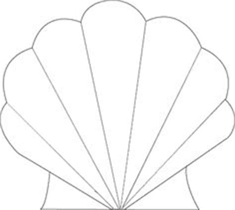 shell card template seashell cutout templates cutouts patterns