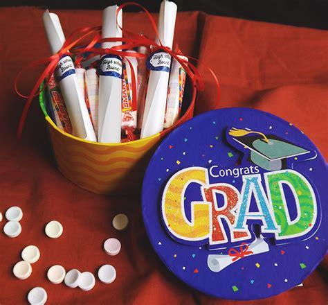 Graduation Giveaways Ideas - smarties diploma graduation favors evermine blog