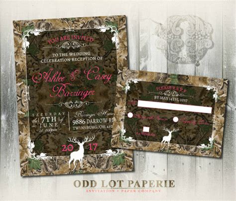 14 Camo Wedding Invitation Designs Templates Psd Ai Free Premium Templates Camouflage Wedding Invitations Templates