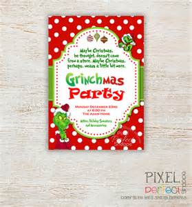 christmas party invitations grinch party invitations christmas invitations grinch stole