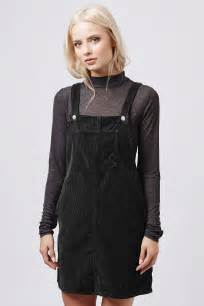 tall cord pinafore dress topshop usa