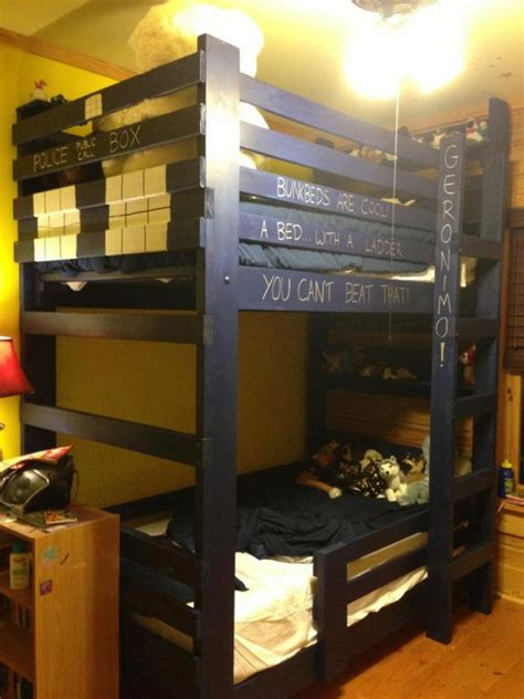 tardis bed tardis bunk bed time and relative dimension in sleep technabob