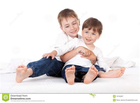 Boy And Girl On Bed Royalty Free Stock Photography Image Picture Of Boy And Free