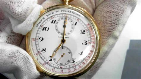 antique longines doctors chronograph pocket  circa