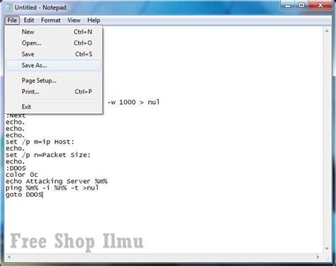 membuat html sederhana menggunakan notepad membuat web sederhana dari notepad cara membuat tool ddos