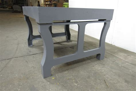 iron bench legs vintage cast iron welding layout inspection work table