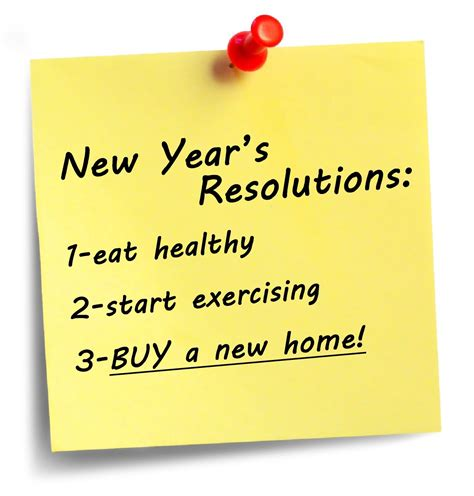 is buying a new home one of your new year s resolutions