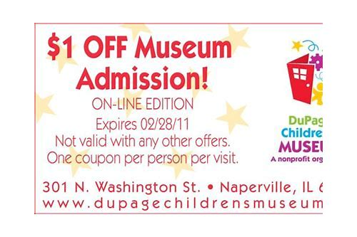 dupage children's museum coupon