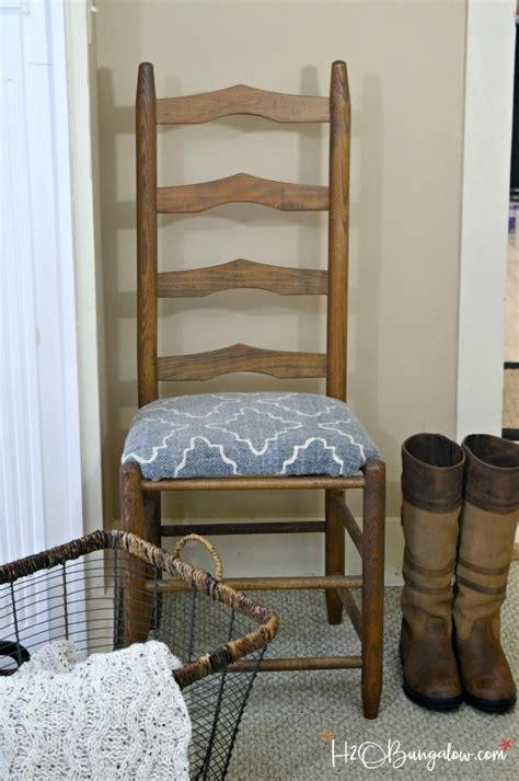 Ladder Back Seat Chairs - how to recover wood chair seats h2obungalow