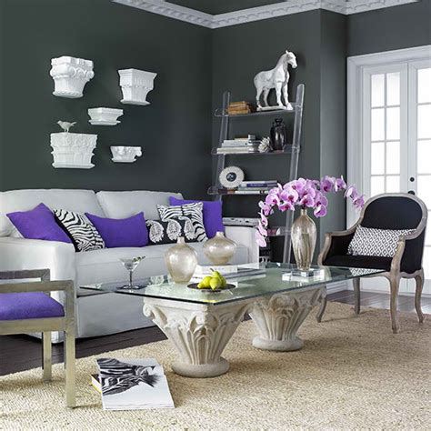 grey and purple living room 26 amazing living room color schemes decoholic