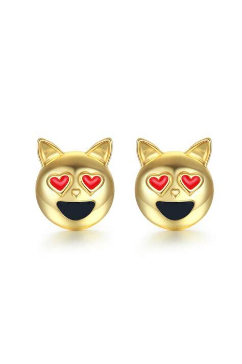 emoji earrings passiana kitty emoji earrings from manhattan by 6th