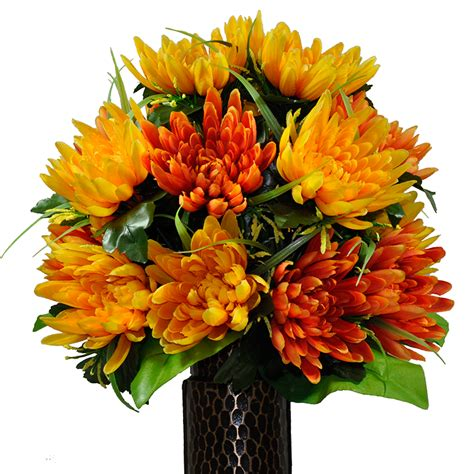 Hydrangeas In Vase Pictures Softly And Tenderly Orange Amp Yellow Fuji Mum Mix