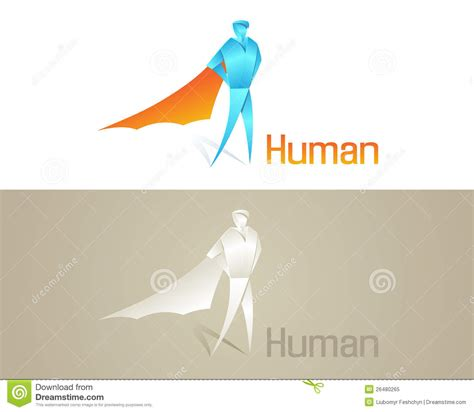 Human Origami - origami human social icon royalty free stock photo image