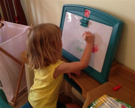 review giveaway step2 studio art desk carrie with children