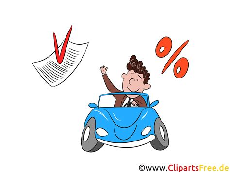 kredit fr grafiker zinsen f 252 r kredit pkw clipart bild grafik illustration